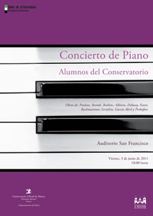 cartel 3 junio 2011 piano